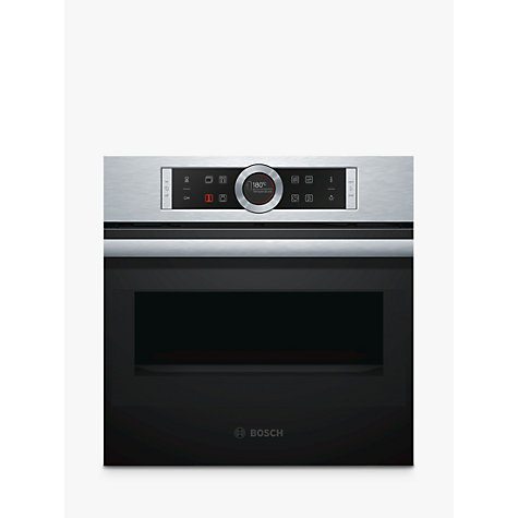 Bosch Cmg633bs1b Compact Built In Combination Microwave Oven Stainless Steel Online At Johnlewis