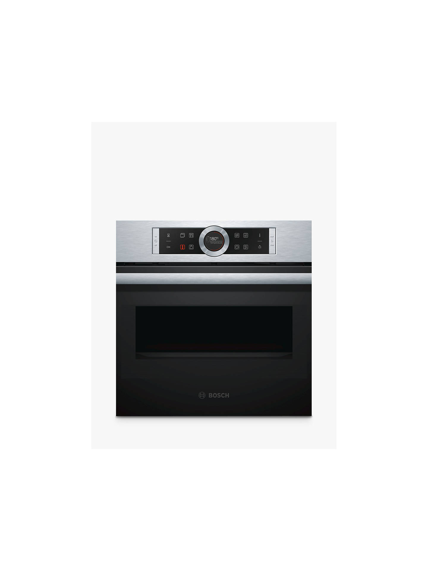 bosch cmg633bs1b compact built in combination microwave oven stainless steel at john lewis. Black Bedroom Furniture Sets. Home Design Ideas