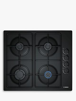 Bosch Serie 2 POP6B6B80 Gas Hob, Black Glass