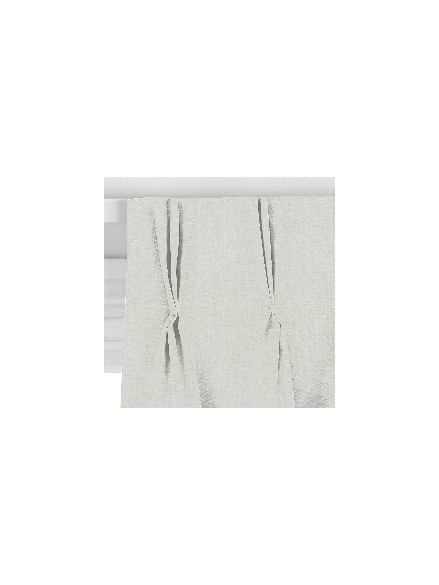 BuyJohn Lewis & Partners Petersham Made to Measure Curtains or Roman Blind, White Online at johnlewis.com