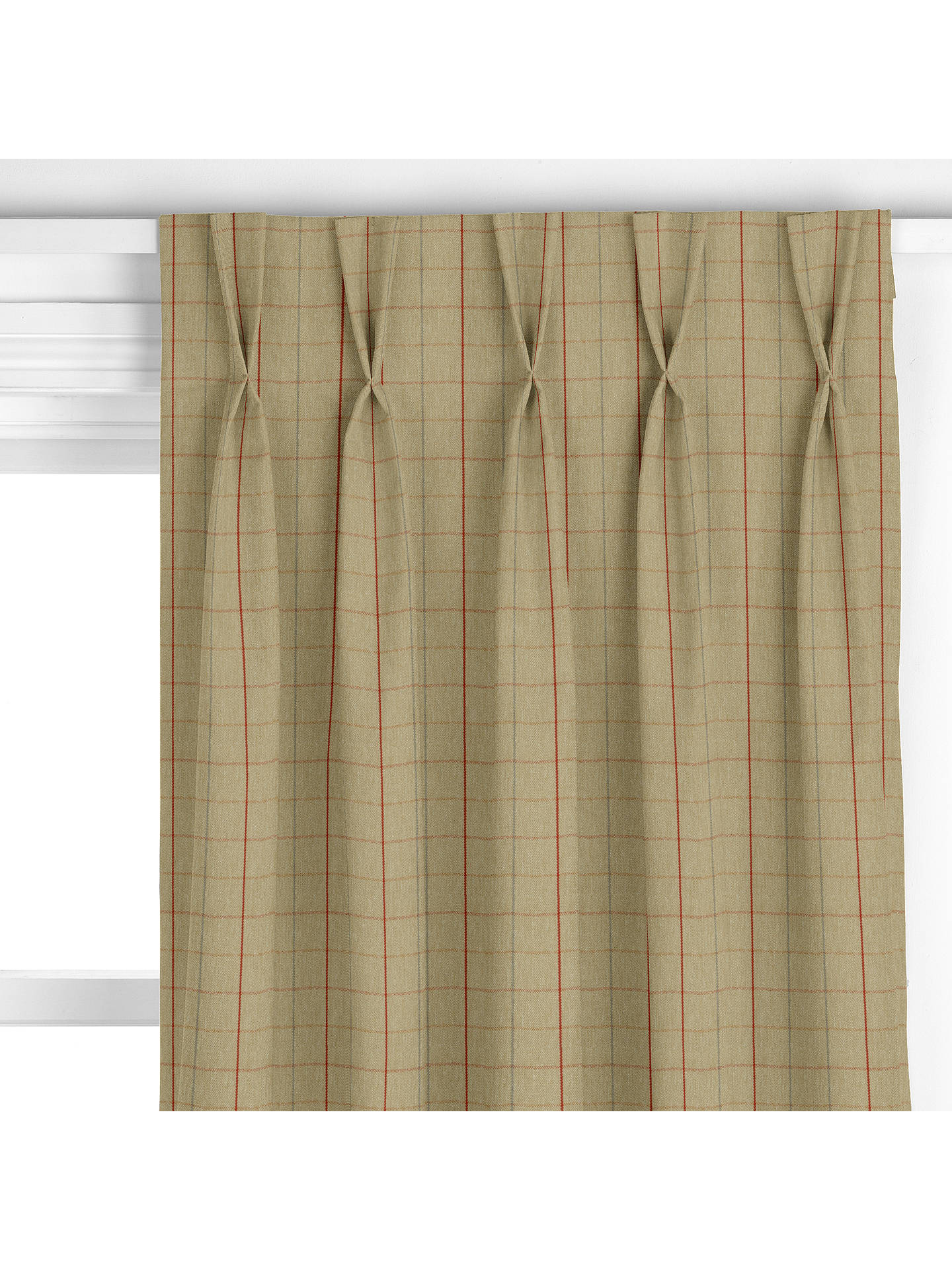 BuyRobert Check Curtain, Red Online at johnlewis.com