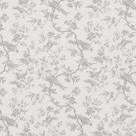 Buy John Lewis Botanica Bird Fabric French Grey John Lewis