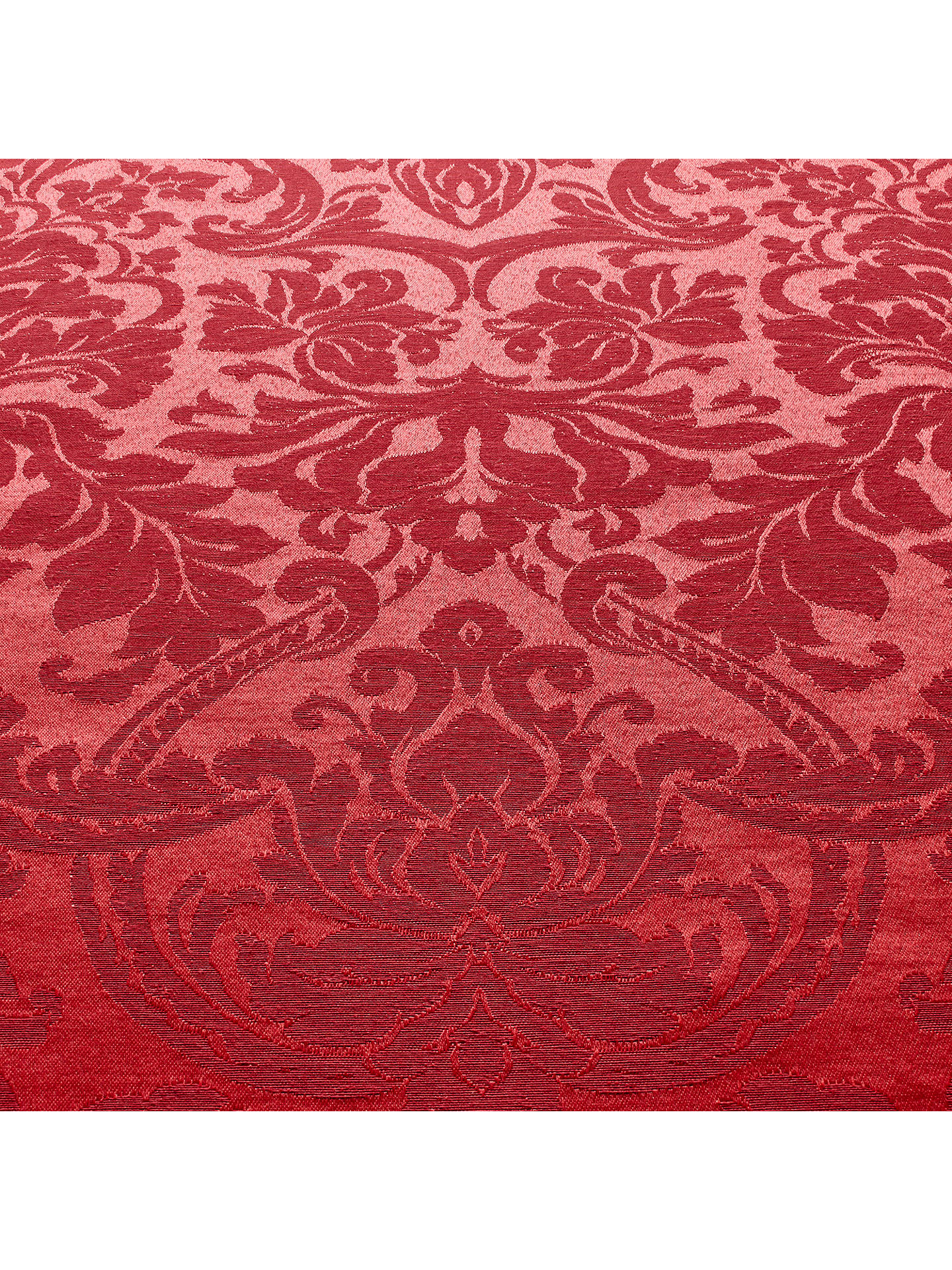 BuyJohn Lewis & Partners Damask Weave Acrylic Coated Tablecloth Fabric, Red Online at johnlewis.com