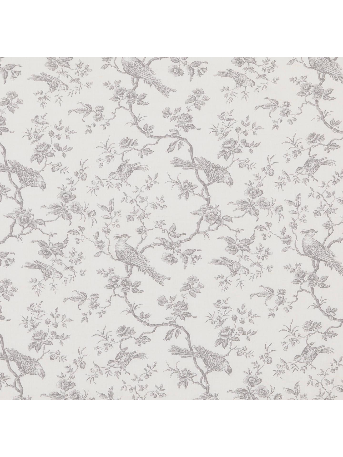 John Lewis Partners Botanica Bird Furnishing Fabric French Grey Online At Johnlewis
