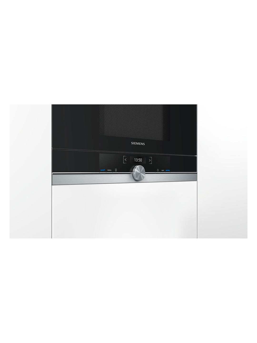 Buy Siemens BF634LGS1B Built-In Microwave, Stainless Steel / Black Online at johnlewis.com