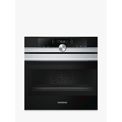 Siemens CM633GBS1B Built-In Compact Oven with Microwave, Stainless Steel / Black