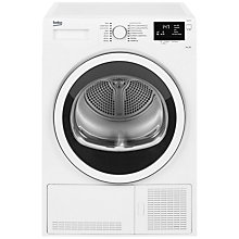 Buy Beko DCJ83133W Condenser Tumble Dryer, 8kg Load, B Energy Rating, White Online at johnlewis.com