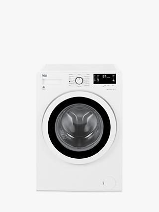 Beko WY74242W Slim Depth Freestanding Washing Machine, 7kg Load, A+++ Energy Rating, 1400rpm Spin, White