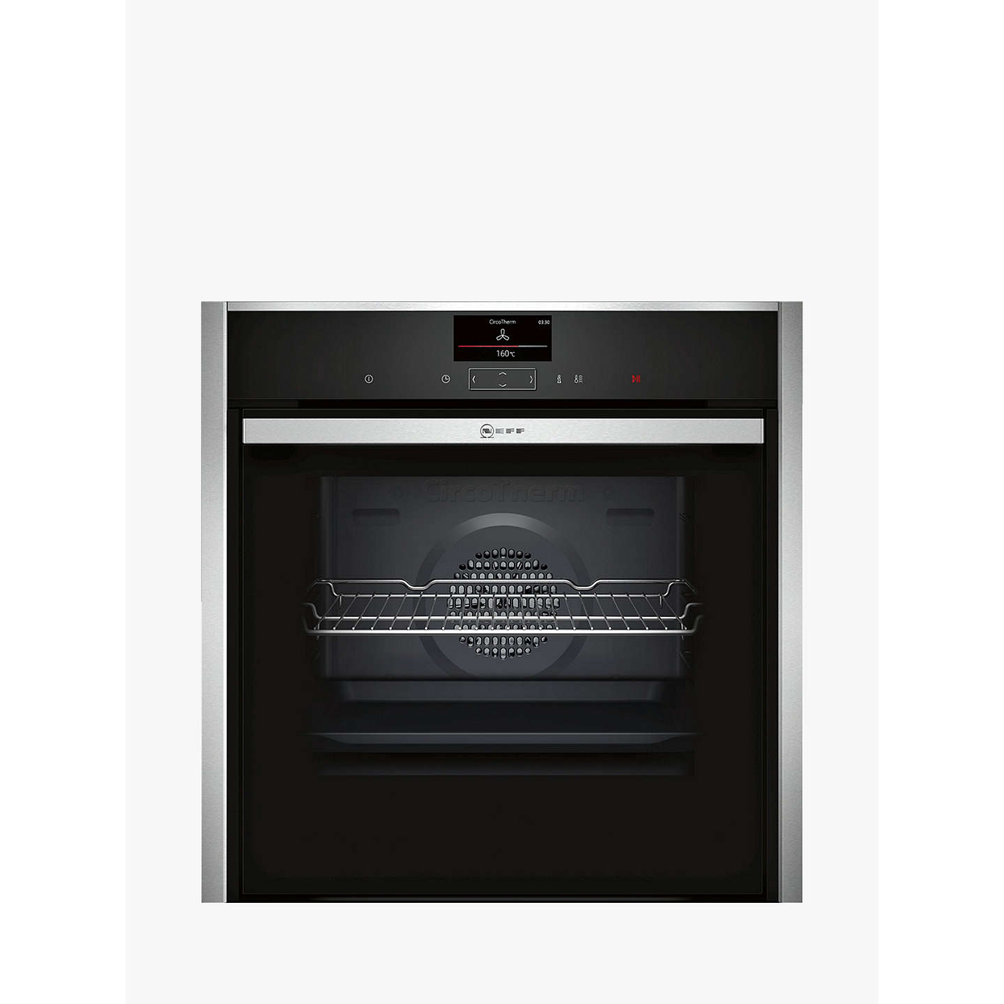Neff B47 Cs34 N0 B Slide And Hide Single Electric Oven, Stainless Steel by Neff