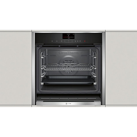 buy neff b47vs34n0b slide and hide variosteam single electric oven stainless steel john lewis. Black Bedroom Furniture Sets. Home Design Ideas