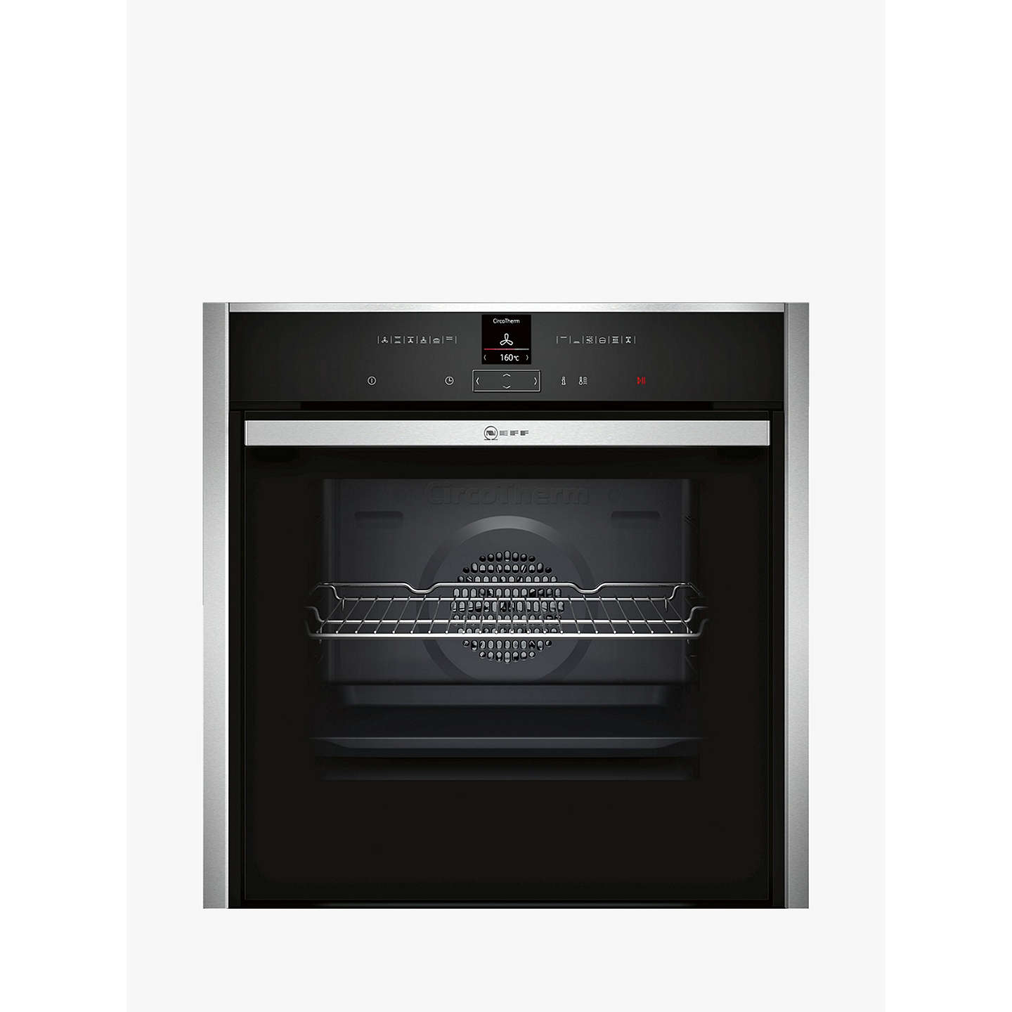 neff b47cr32n0b slide and hide ecoclean single electric oven stainless steel at john lewis. Black Bedroom Furniture Sets. Home Design Ideas