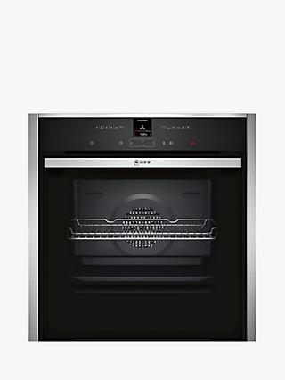 Neff B47CR32N0B Slide and Hide EcoClean Single Electric Oven, Stainless Steel
