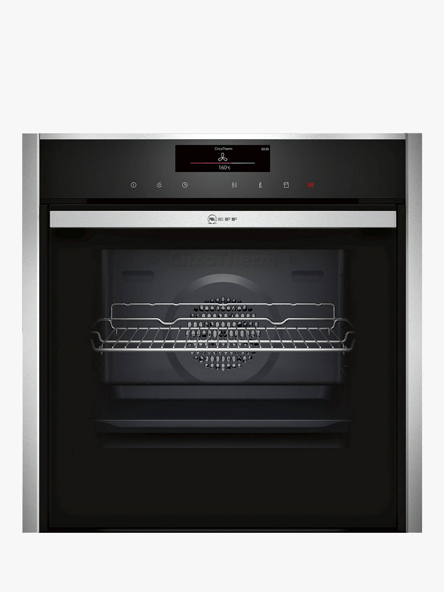 BuyNeff B58VT68N0B VarioSteam® Pyrolytic Slide and Hide Single Electric Oven, Stainless Steel Online at johnlewis.com