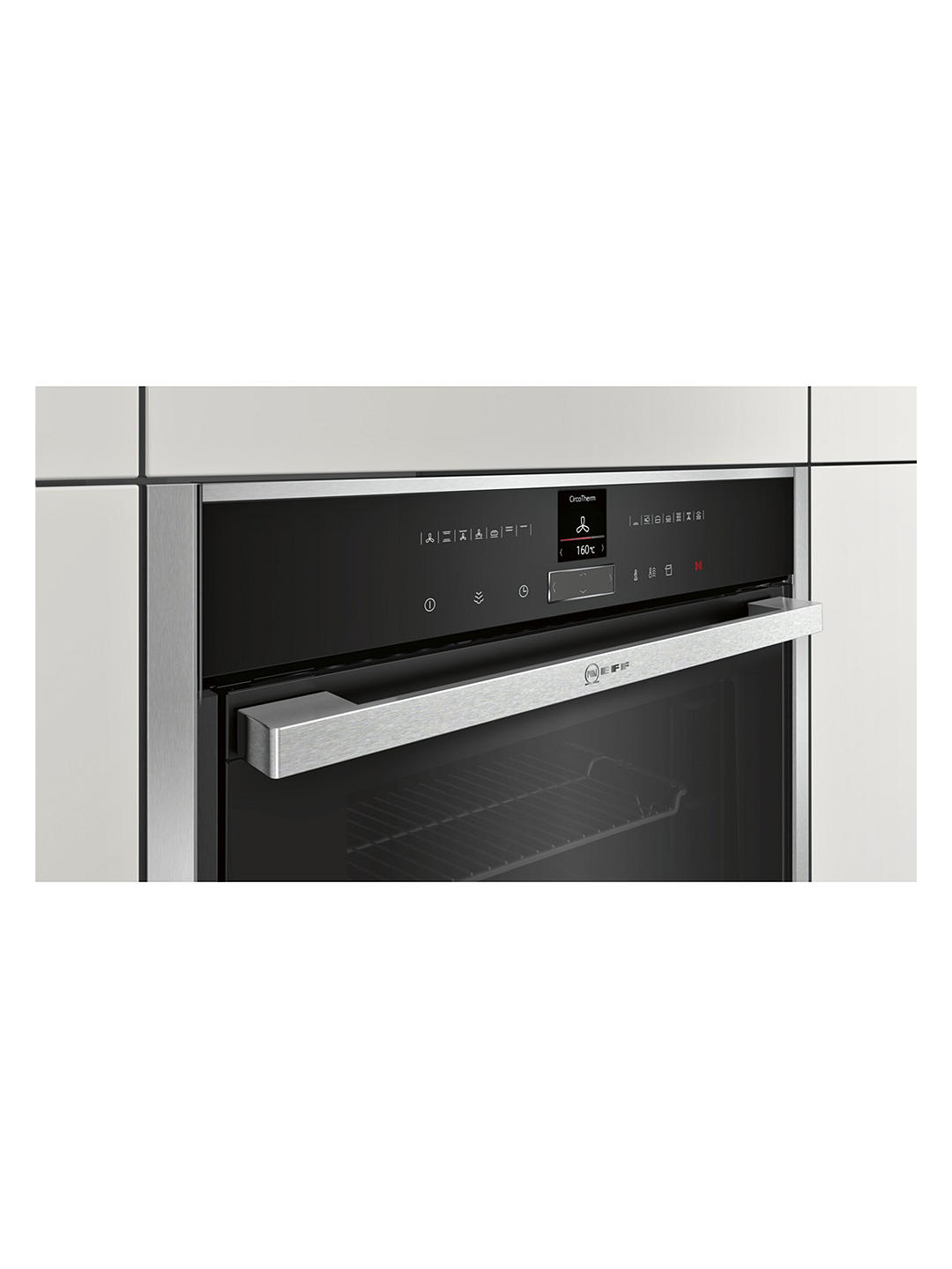 Buy Neff B57VR22N0B Slide and Hide Single Electric Oven, Stainless Steel Online at johnlewis.com