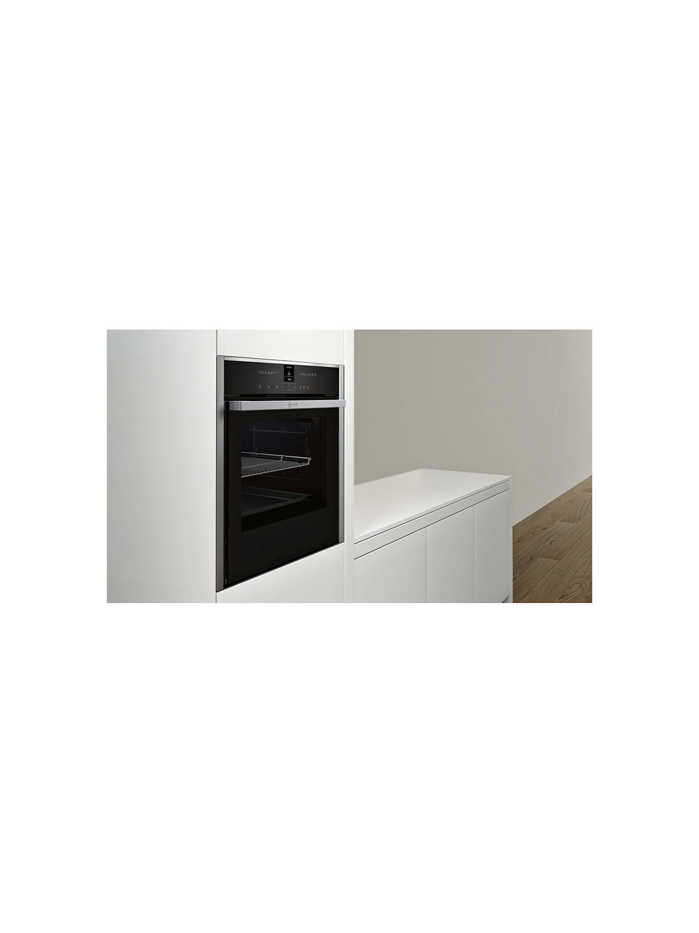 BuyNeff B57VR22N0B Slide and Hide Single Electric Oven, Stainless Steel Online at johnlewis.com