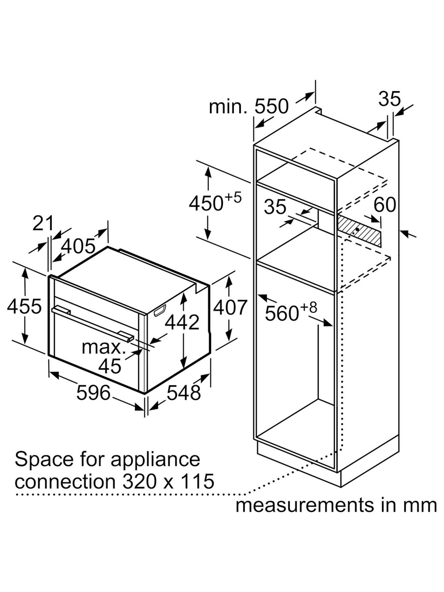 neff c27cs22n0b compact circotherm u00ae single electric oven