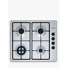 Buy Siemens EB6B5HB60 Gas Hob, Stainless Steel Online at johnlewis.com