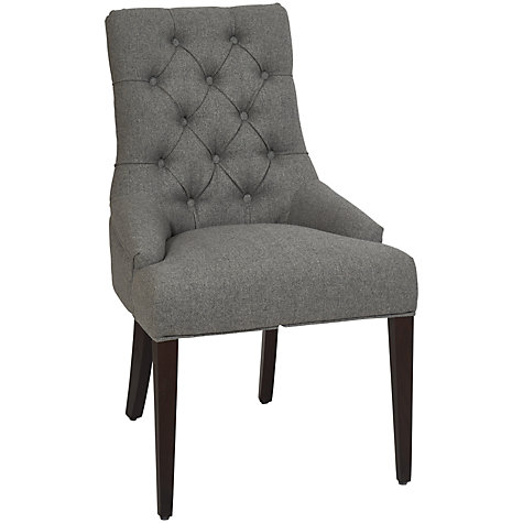 Buy neptune henley upholstered linen dining chair john lewis for Upholstered linen dining chairs
