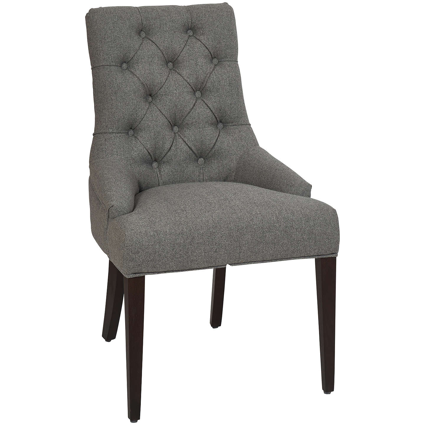 Neptune henley upholstered linen dining chair at john lewis for Upholstered linen dining chairs