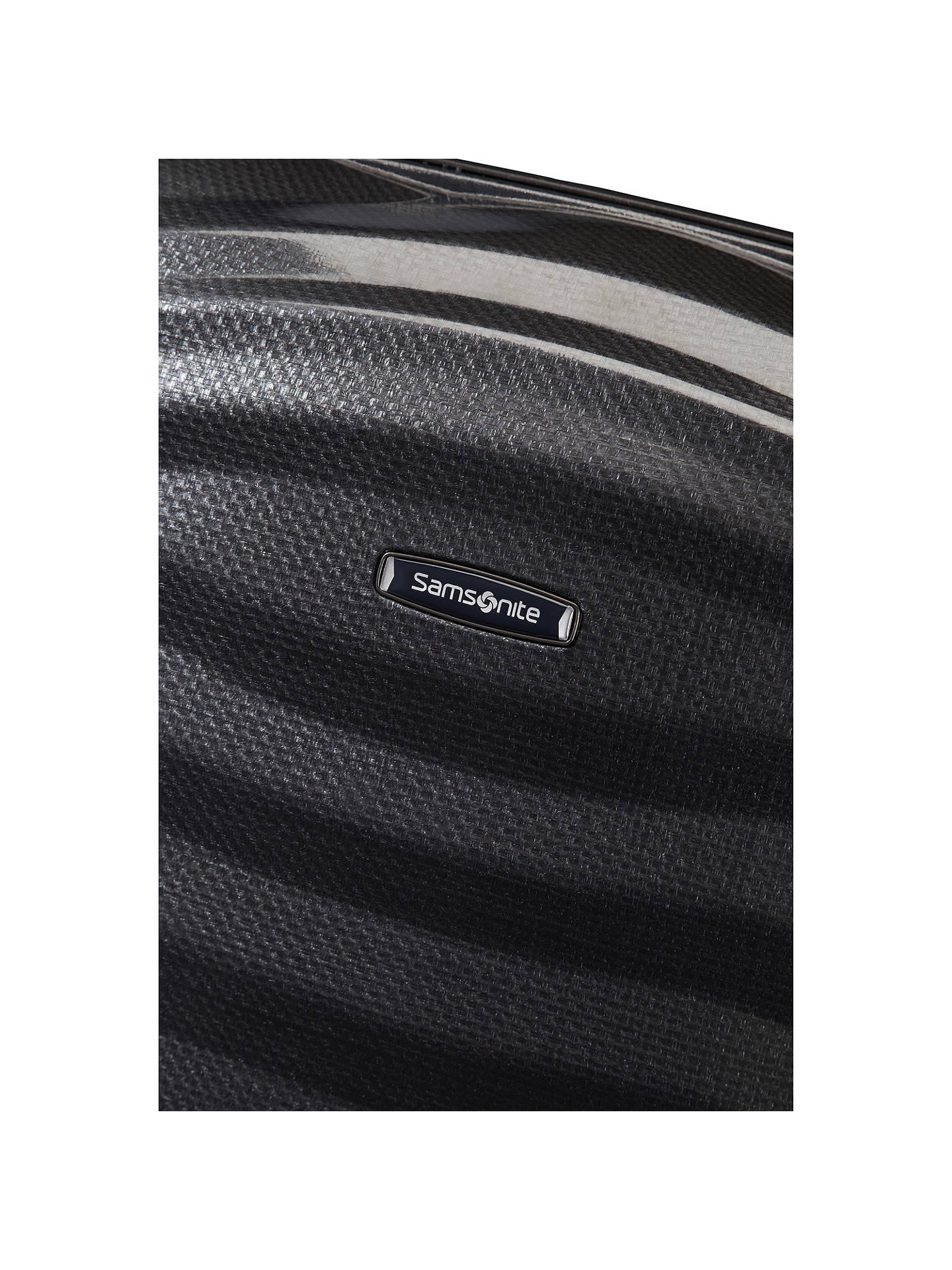 BuySamsonite Lite-Shock Spinner 4-Wheel 82cm Suitcase, Black Online at johnlewis.com