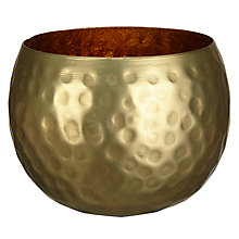 Buy John Lewis Hammered Tealight Holder Online at johnlewis.com