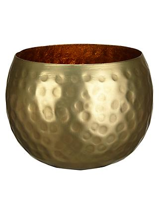 John Lewis & Partners Hammered Tealight Holder