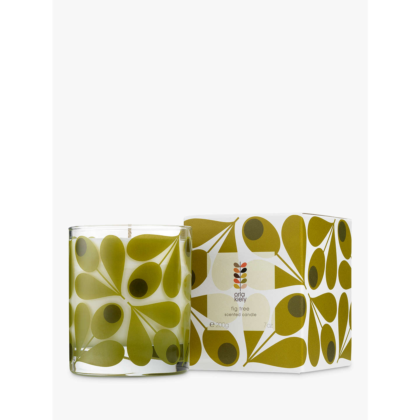 BuyOrla Kiely Fig Tree Scented Candle, 200g Online at johnlewis.com