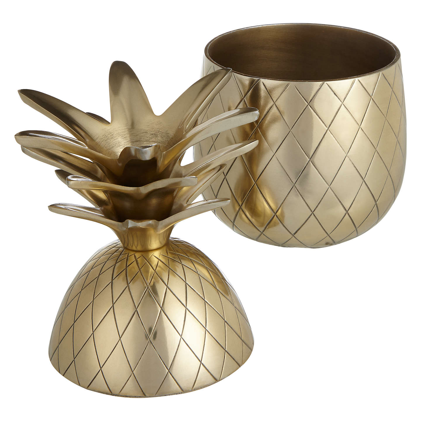 BuyJohn Lewis Decorative Gold Pineapple, Small Online at johnlewis.com