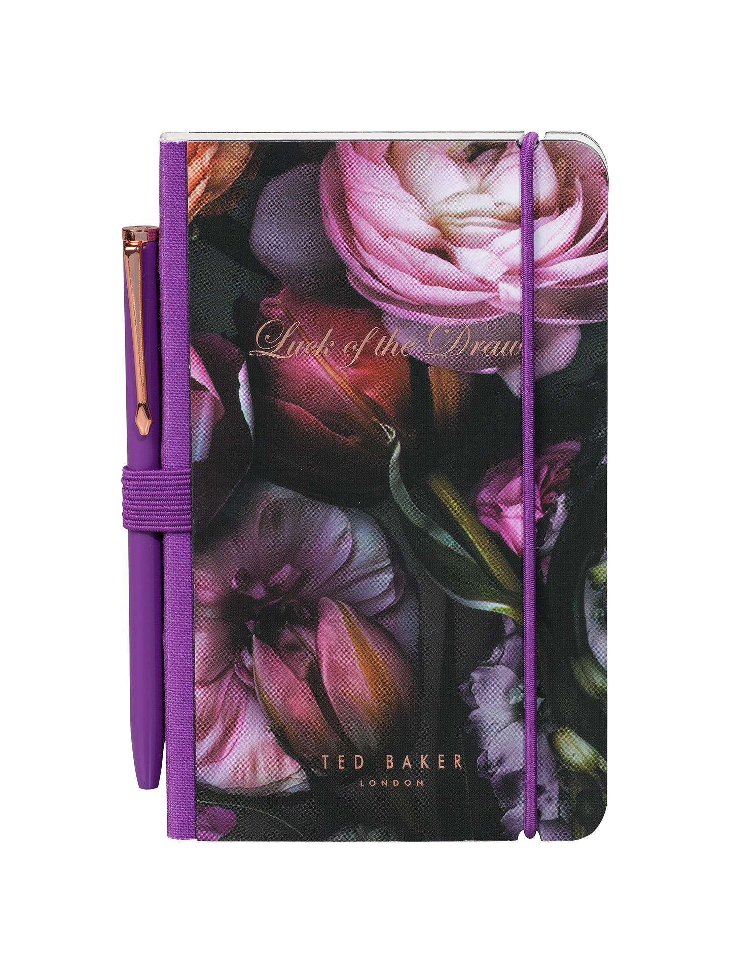 Buy Ted Baker Shadow Floral Mini Notebook and Pen Online at johnlewis.com