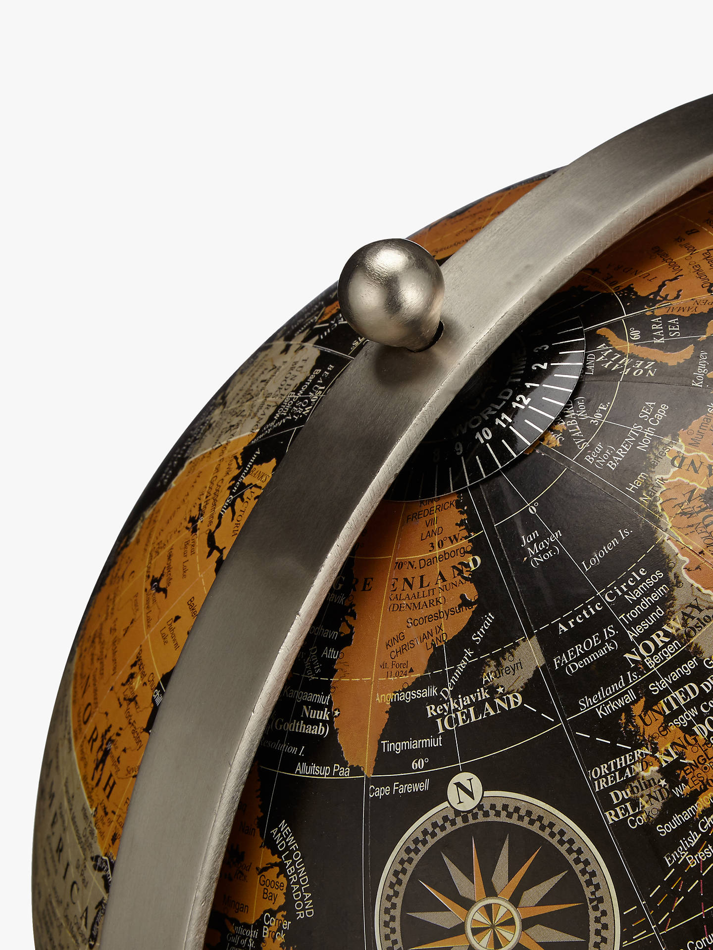 BuyJohn Lewis & Partners Large Globe on Wooden Stand, Black Online at johnlewis.com