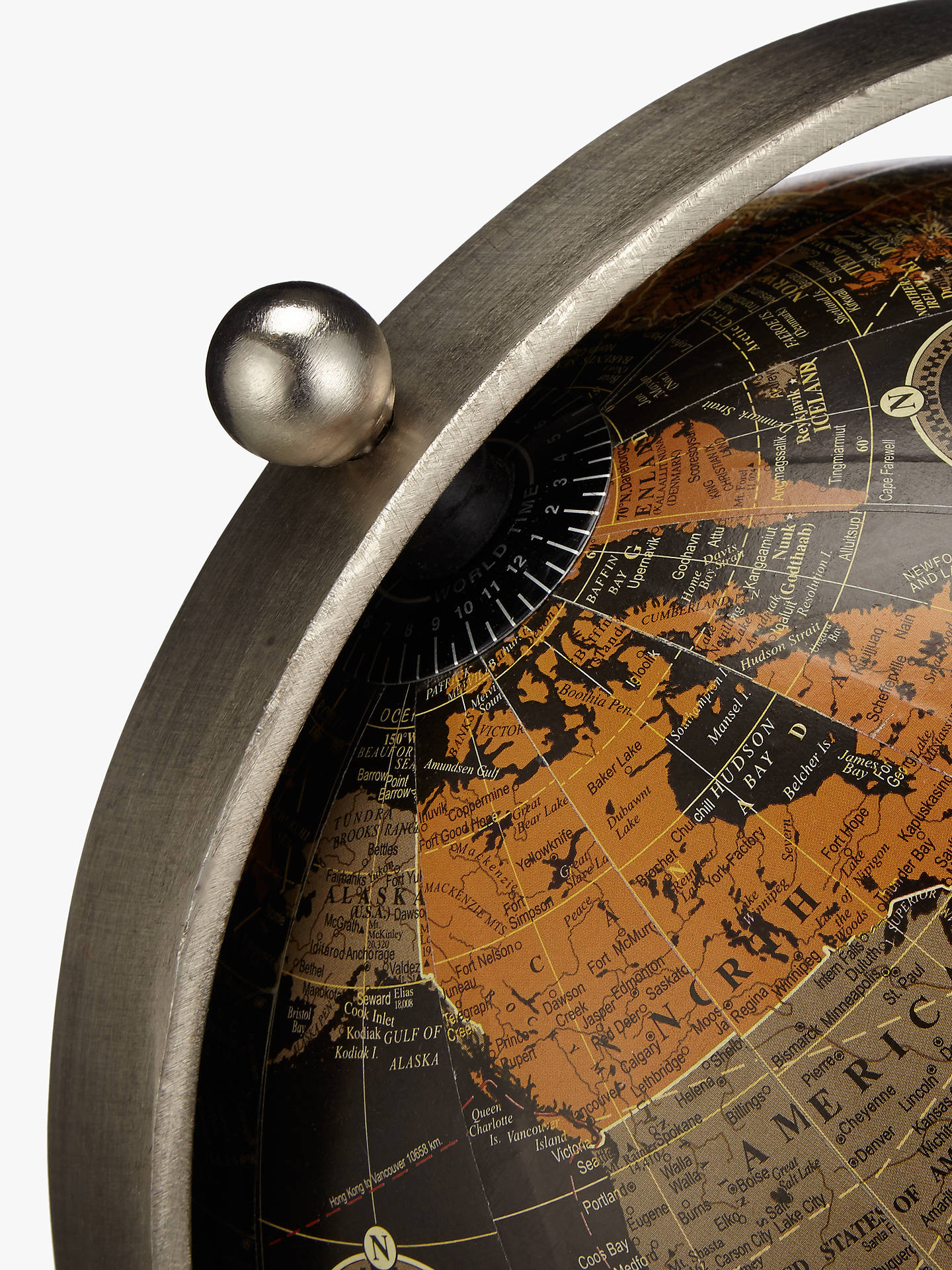 Buy John Lewis & Partners Globe on Wooden Stand, Black Online at johnlewis.com
