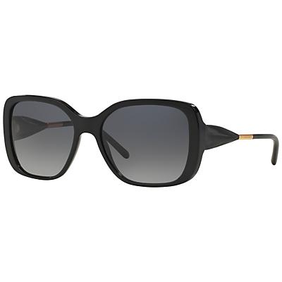 Burberry BE4192 Square Framed Polarised Sunglasses, Black