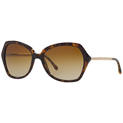 Burberry BE4193 Square Polarised Sunglasses, Tortoise