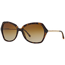 Buy Burberry BE4193 Square Polarised Sunglasses, Tortoise Online at johnlewis.com