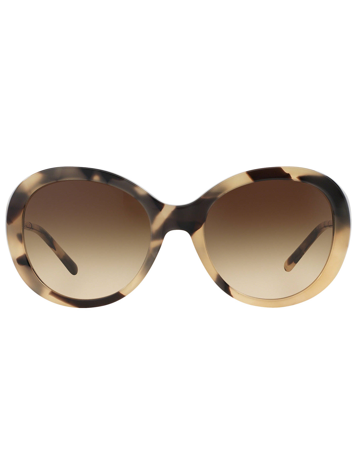 Burberry BE4191 Round Sunglasses, Brown