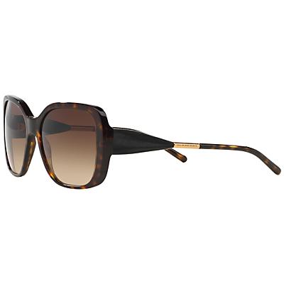 Burberry BE4192 Square Framed Polarised Sunglasses, Tortoise