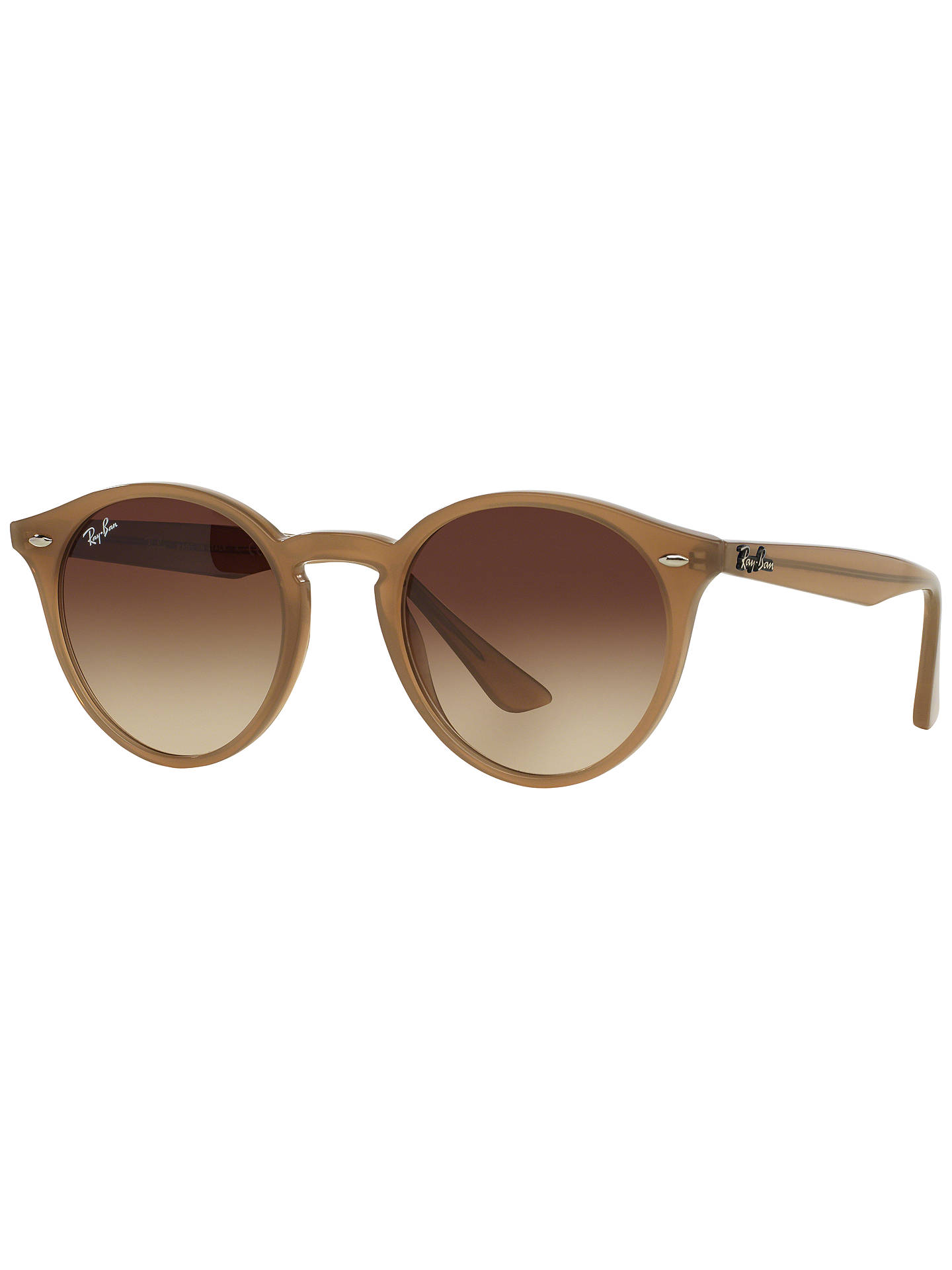 da9424480f Ray-Ban RB2180 Round Framed Sunglasses at John Lewis   Partners