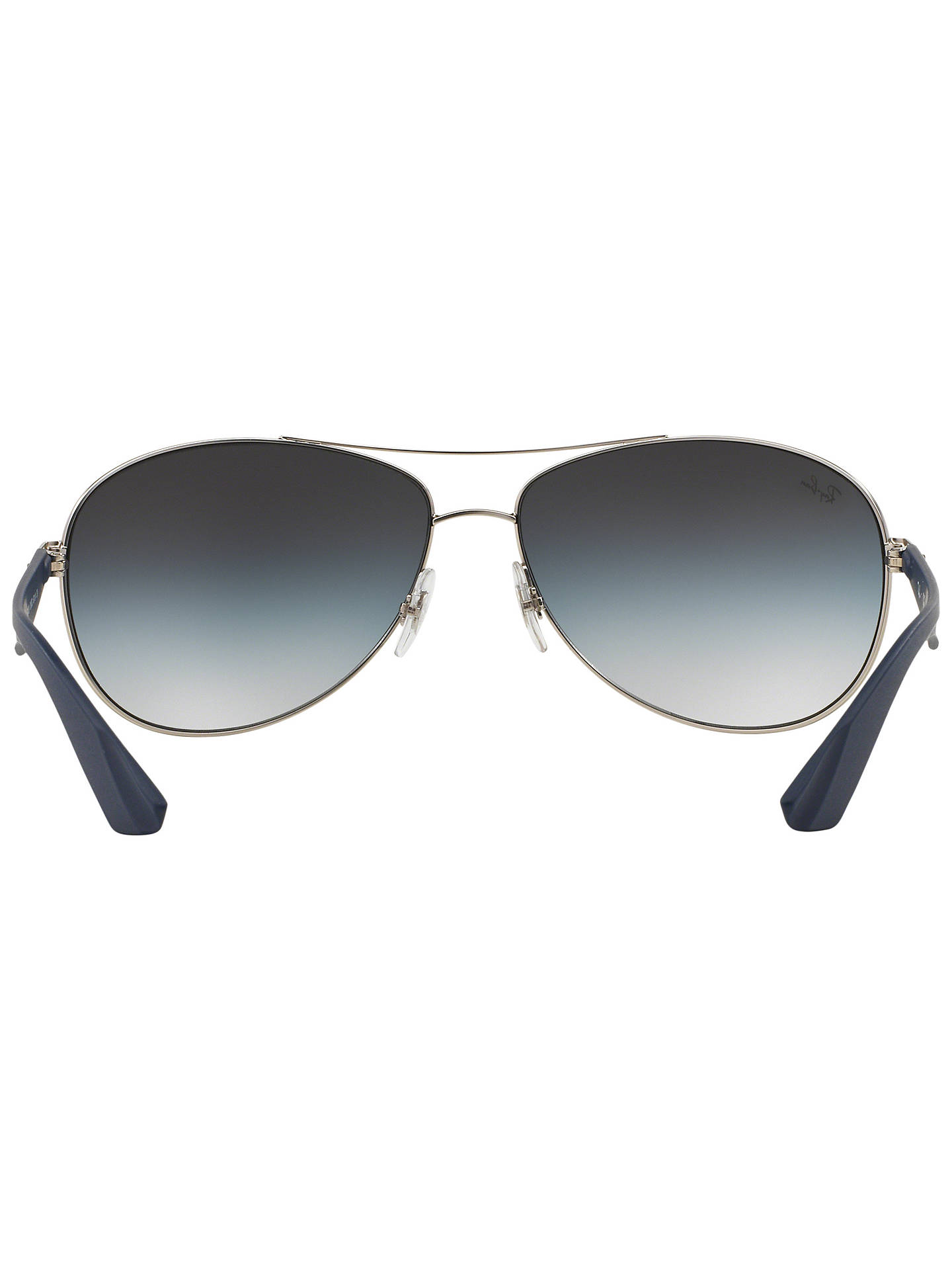 Buy Ray-Ban RB3526 Metal Framed Pilot Sunglasses, Silver Online at johnlewis.com