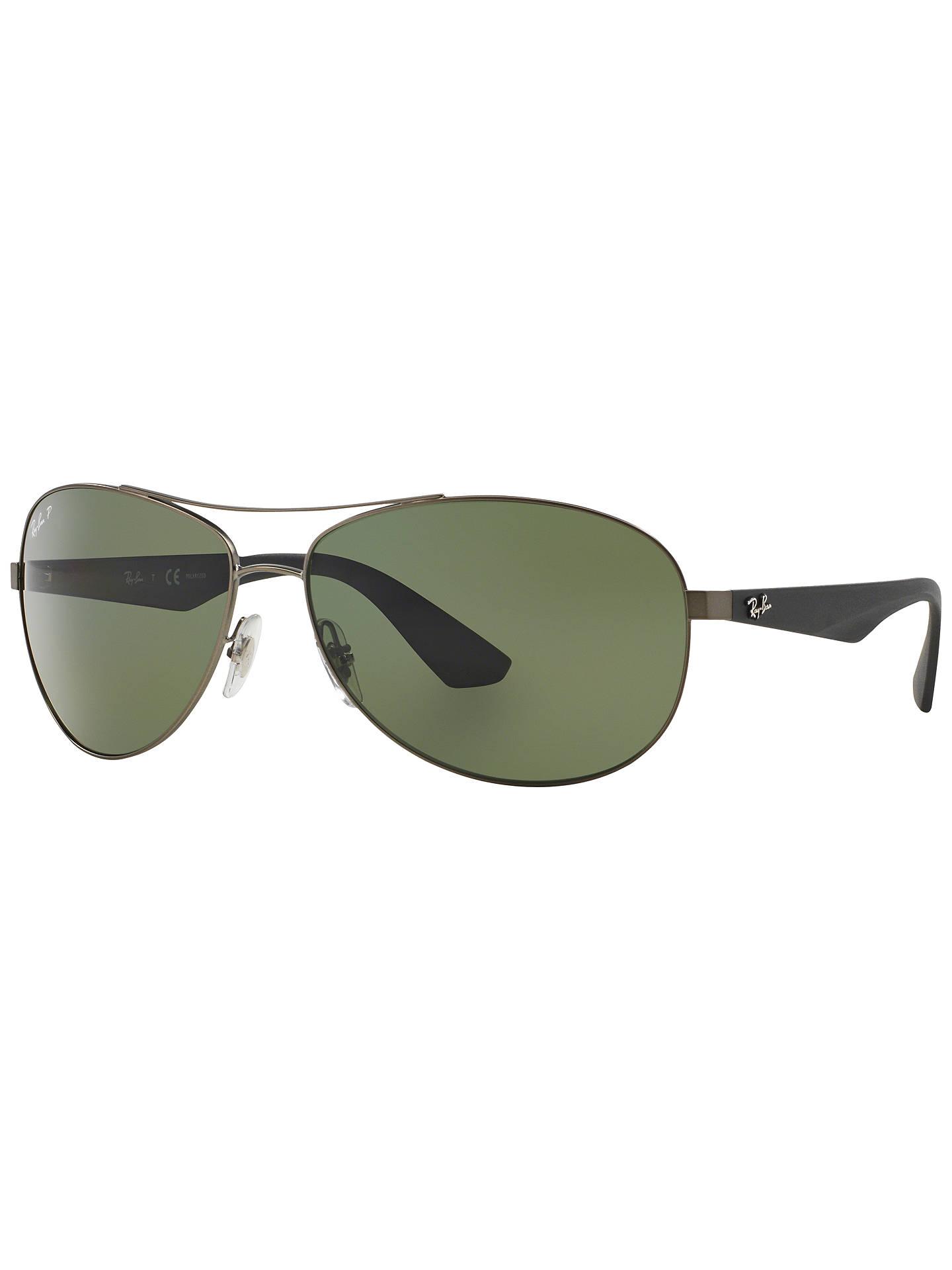 BuyRay-Ban RB3526 Polarised Pilot Sunglasses, Green Online at johnlewis.com  ... 6d8a7466b3