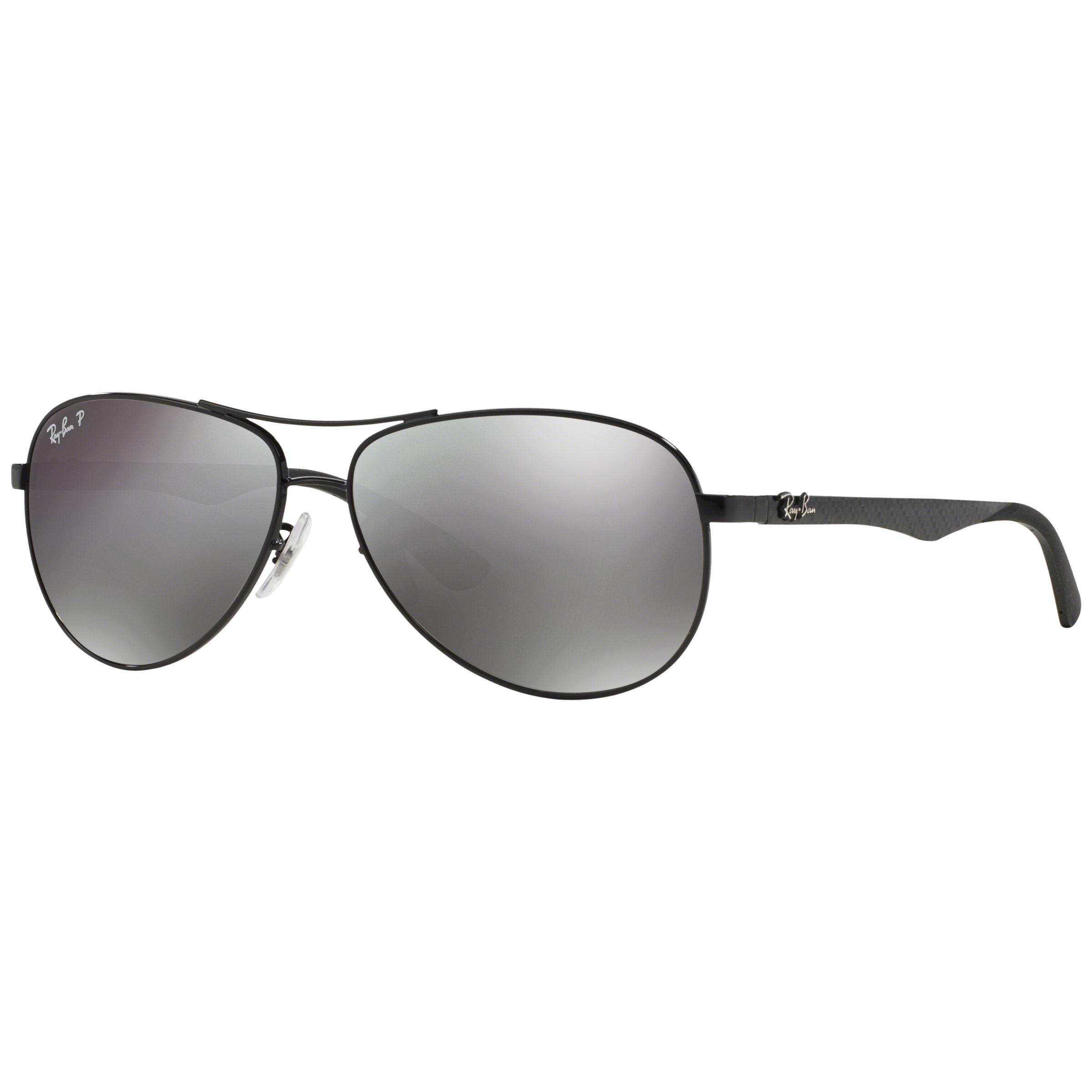 Ray-ban Ray-Ban RB8313 Polarised Carbon Fibre Pilot Sunglasses, Black