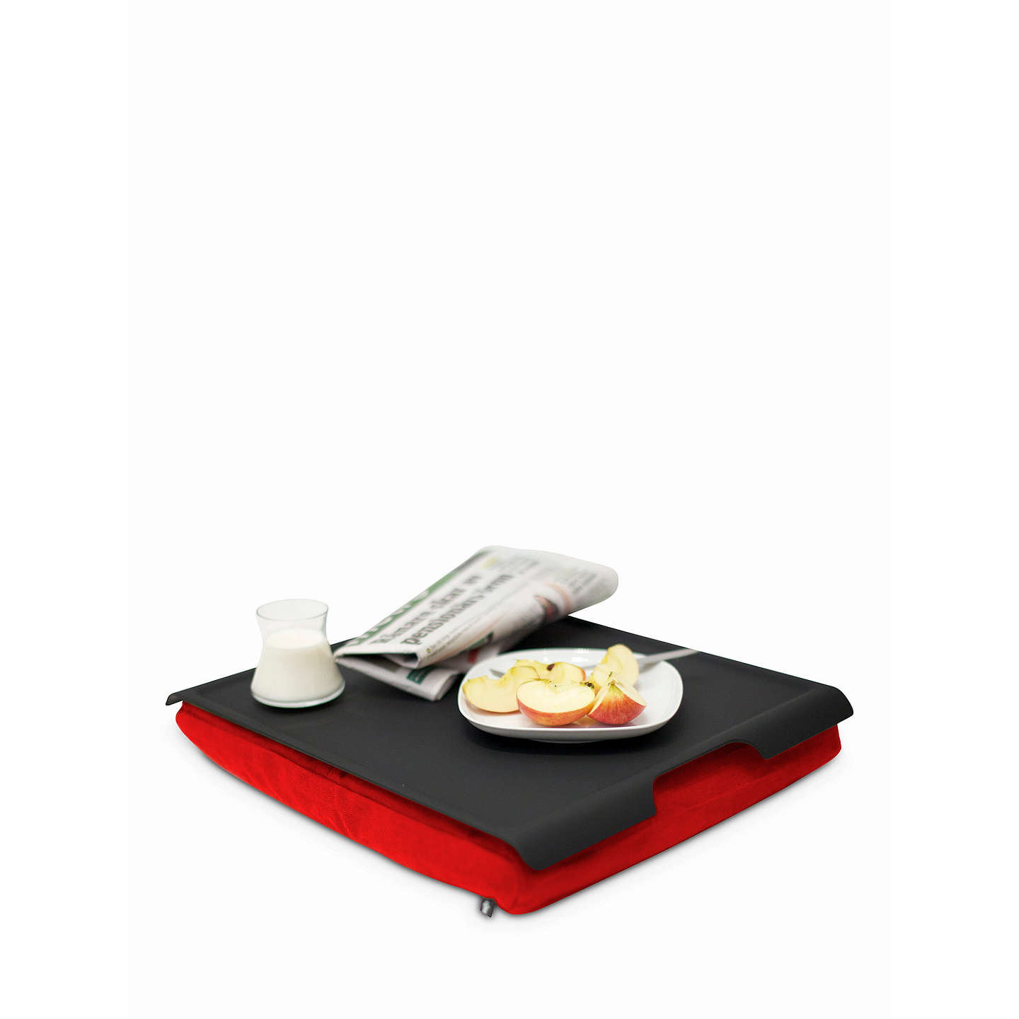 BuyBosign Antislip Wood Lap Tray, Black/Red Online at johnlewis.com