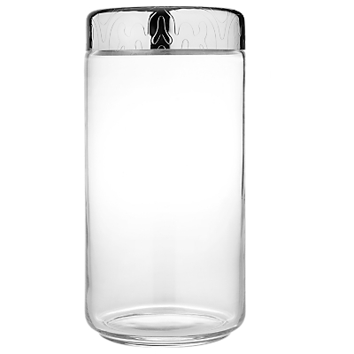 Alessi Dressed Storage Jar, Stainless Steel/Crystal Glass, 1.5L