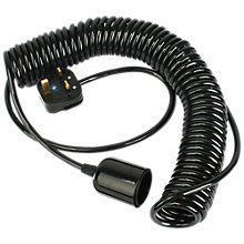 Buy Craig Lucas and Tobias Pitcher for John Lewis ES Spring Pendant Cord, Black, 1.5m Online at johnlewis.com