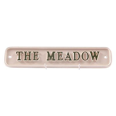 The House Nameplate Company Personalised Painted Aluminium Rectangle House Sign, W30.5 x H6.5cm