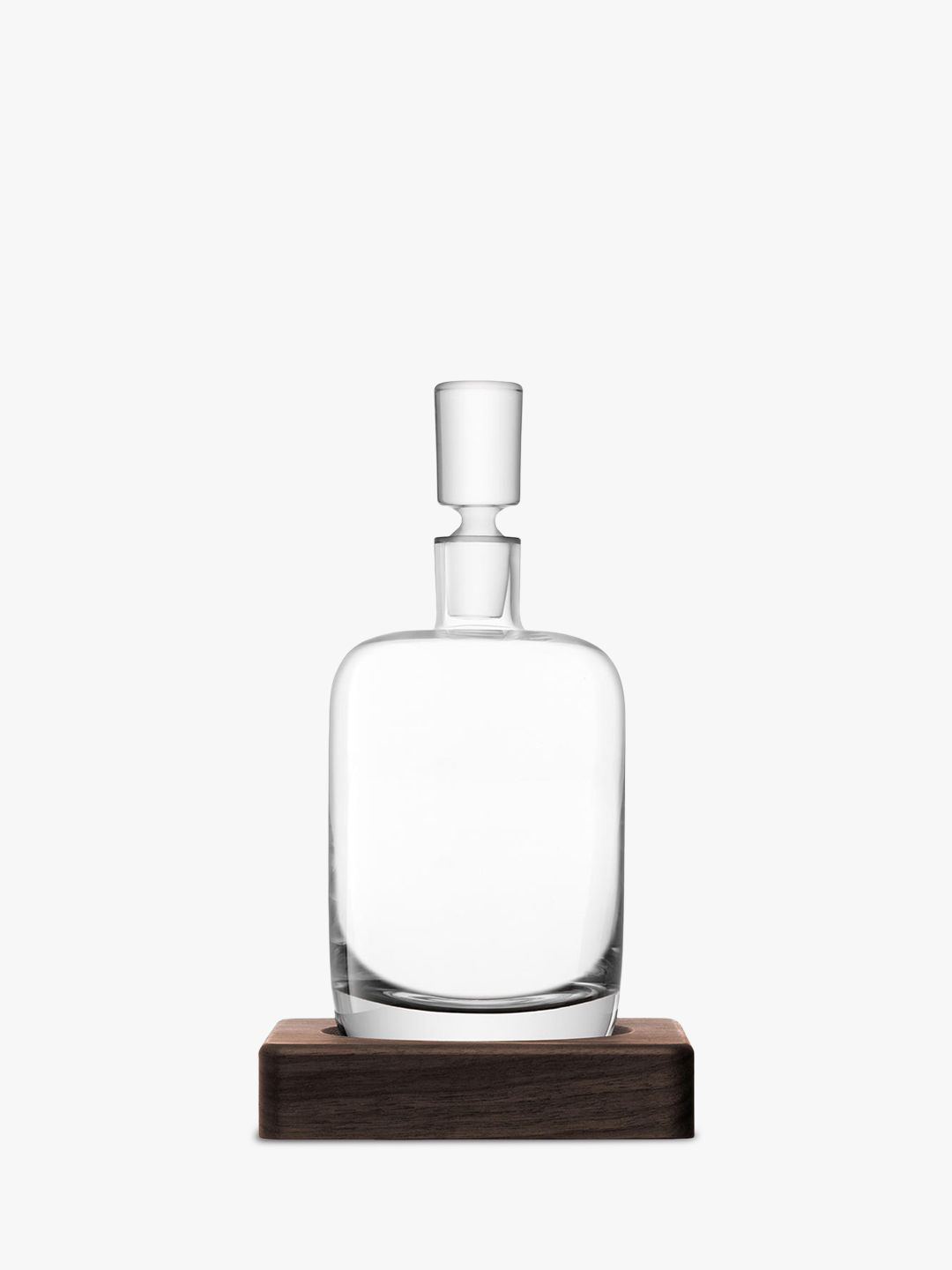 LSA International LSA International Straight Whisky Decanter with Walnut Base