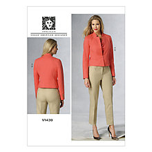 Buy Vogue Women's Jacket and Trousers Sewing Pattern, 1439 Online at johnlewis.com