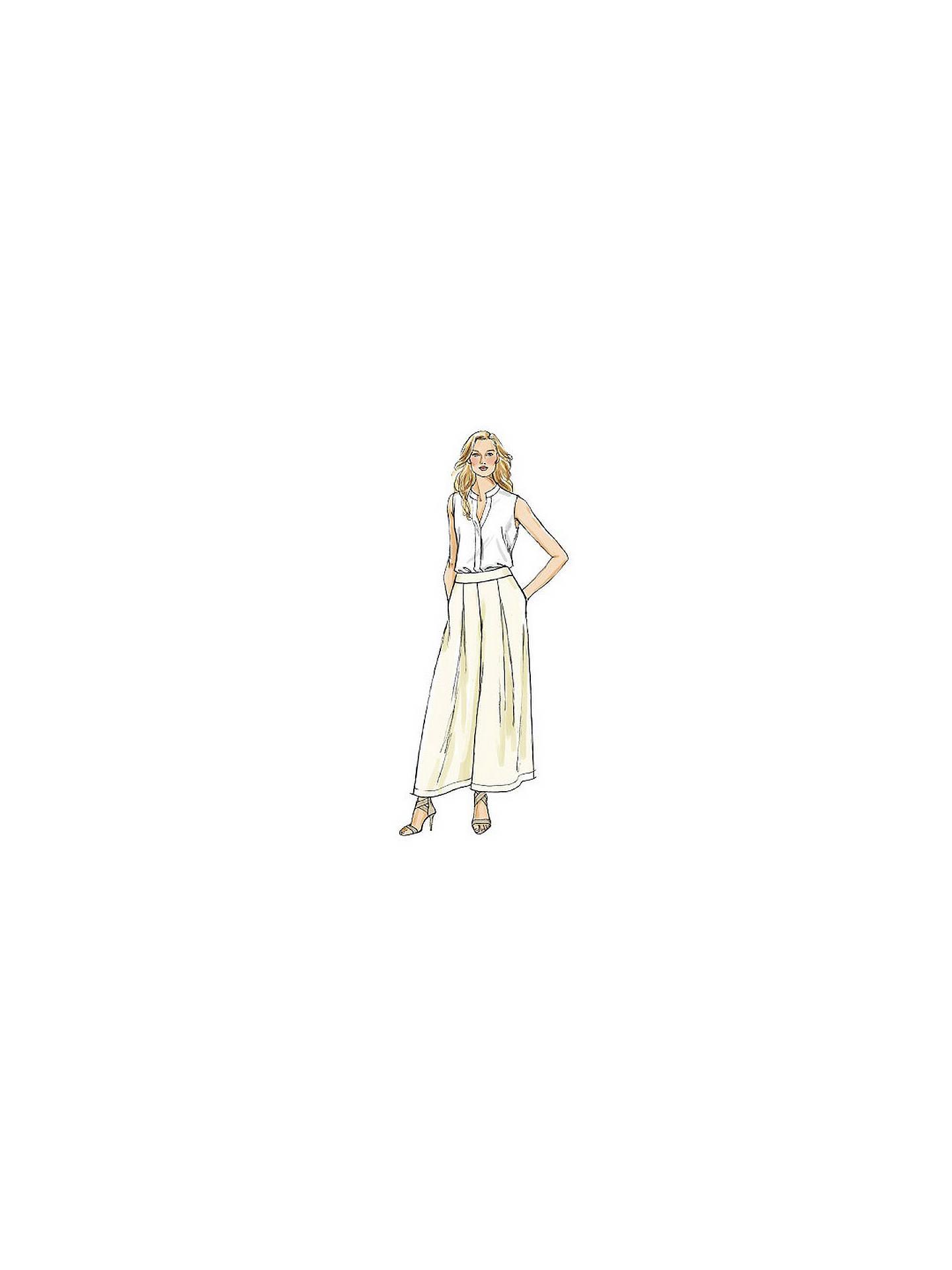Patron Abat Jour Papier vogue sewing pattern v9091 rate la jupe-culotte et pantalon
