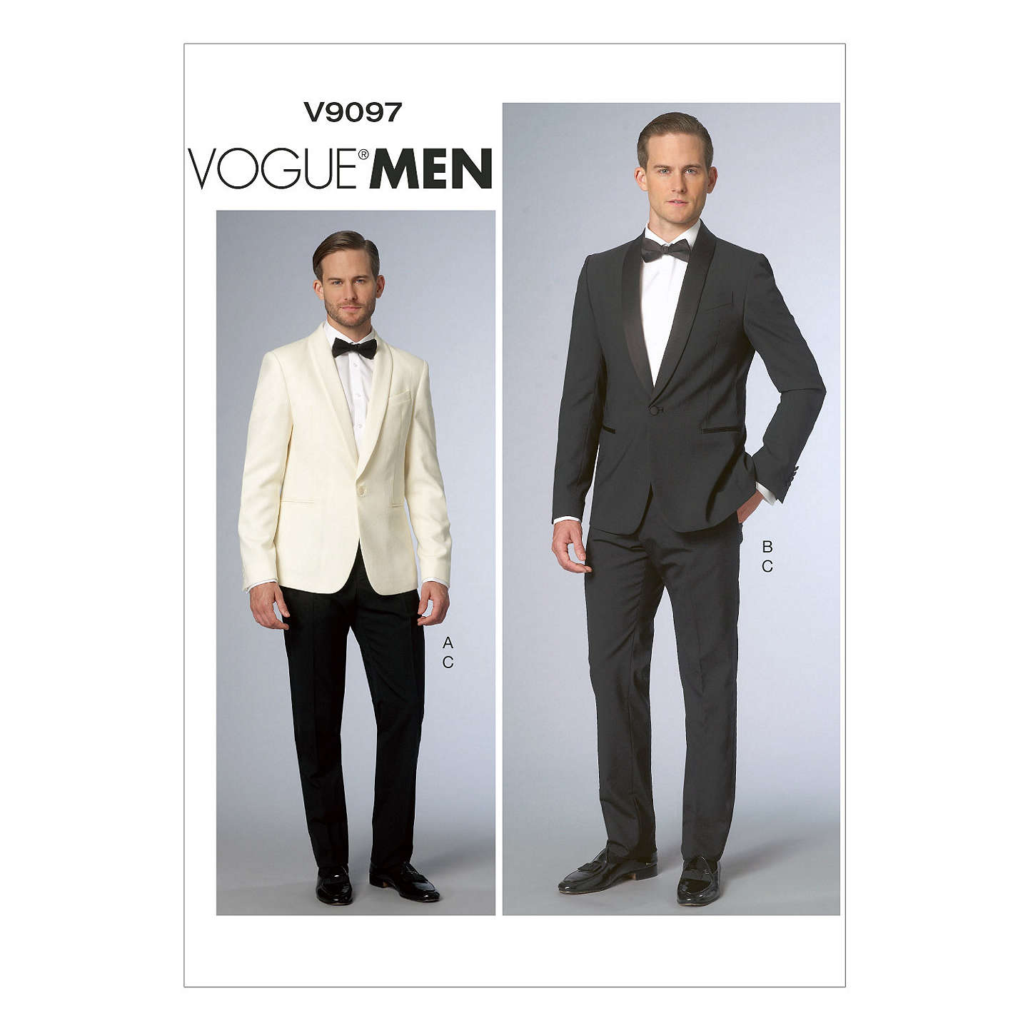 Vogue Men\'s Tailored Trousers and Jacket Suit Sewing Pattern, 9097 ...
