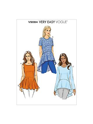 Vogue Very Easy Peplum Top Sewing Pattern, 9084