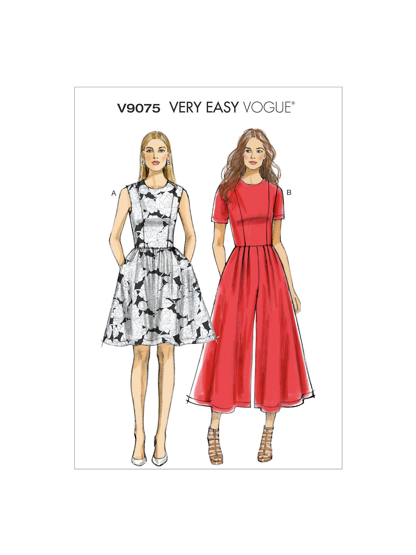 774ef0e5c5a BuyVogue Very Easy Dress and Jumpsuit Sewing Pattern